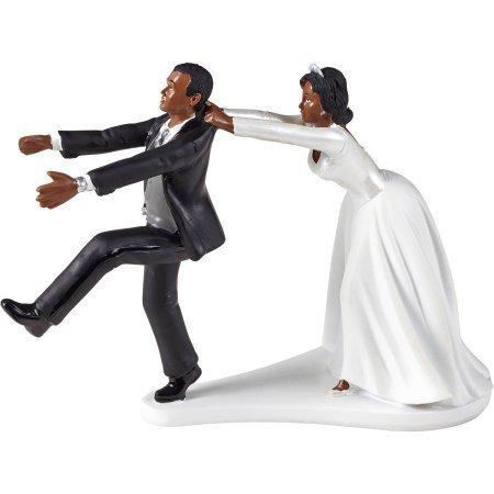 Wilton Wedding Humorous Cake Topper Oh No You Dont Black White ()