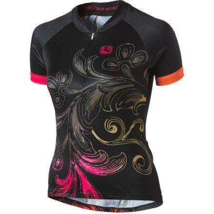 Giordana Women's Arts Short Sleeve Jersey (S, CRUSH BLACK)