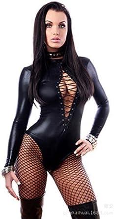 Lafizzle Lenceria Tallas Grandes De Cuero Mujer Vestidos De Latex Pvc Pu Disfraces Adultos Eroticos Body Suit Ropa De Caucho Amazon Es Ropa Y Accesorios