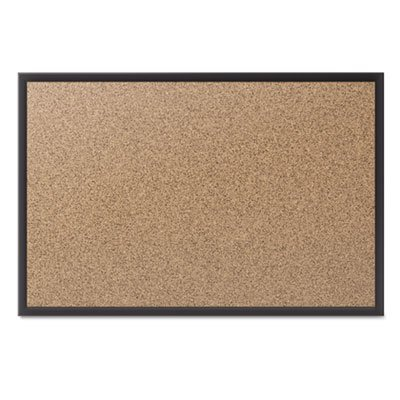 Classic Cork Bulletin Board, 60x36, Black Aluminum Frame, Sold as 1 Each