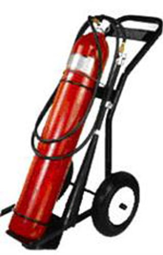 Buckeye 35050 Wheeled Carbon Dioxide Fire Extinguisher, 50 lbs Agent Capacity, 31
