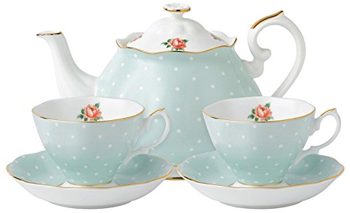Royal Albert New Country Roses Polka Rose Tea For Two