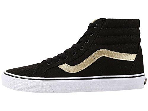 Vans Unisex Sk8-Hi Reissue (50Th) Black/Gold Sneaker – 4