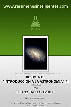 """Amazon.com: Resumen de """"Introducción a la Astronomía"""" de"""