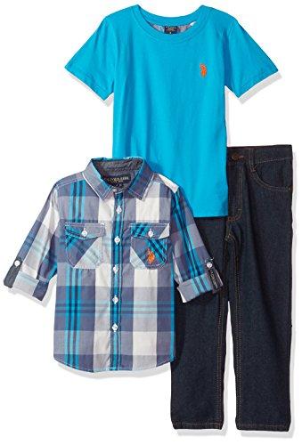 U.S. Polo Assn. Boys Long Sleeve, T-Shirt and Pant Set