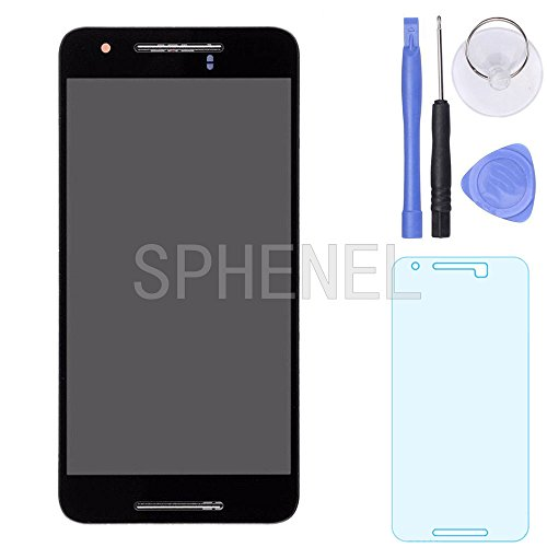 SPHENEL LCD Display And Digitizer Touch Screen Assembly With Screen Frame For Huawei Google Nexus 6P H1511 H1512 (With Frame) by SPHENEL