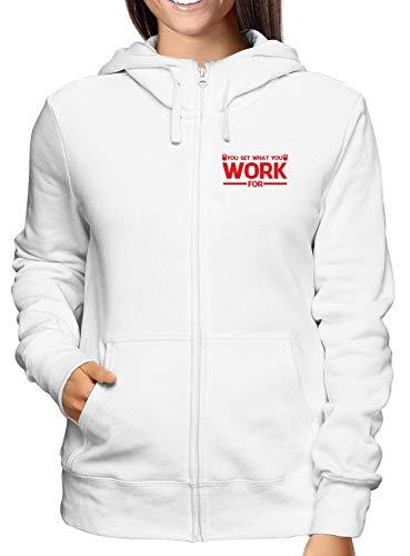 Zip Enjoy0144 For Bianca Get Donna You What Work Felpa T shirtshock ECqvS