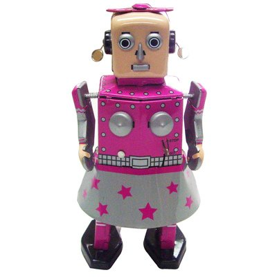 Venus Robot Girl, Metal Robot Winds Up, Tin Toy Collection, 5.5 by Classic Tin Toy (Image #2)