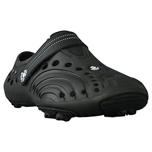 Boys' Dawgs Spirit Lightweight Golf Shoes Black with Black S