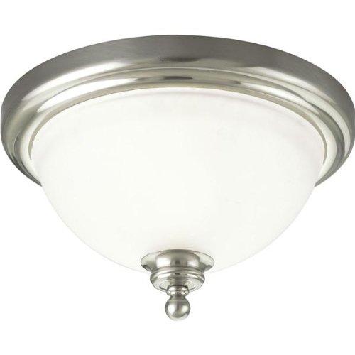 Progress Lighting P3311-09 1-Light Ceiling Flush Mount Ceiling Fixture 60 Watt 120 Volt Brushed Nickel Madison -