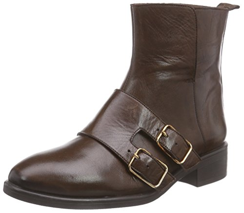 Inuovo REESE - botas de cuero mujer marrón - marrón (Dark Brown)