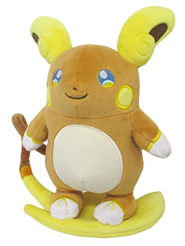 Sanei Pokemon All Star Stuffed Alolan Raichu Plush Dolls, 8""