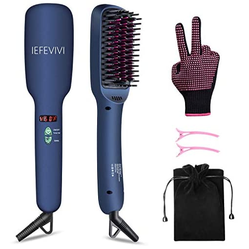 IEFEVIVI Hair Straightener Brush Lonic-2-in-1 Straightening Brush Iron with Anti-Scald Feature, Auto Temperature Lock and Auto-off Function MCH hair straightener Ceramic Technology - 418a5qoo 2BHL - IEFEVIVI Hair Straightener Brush Lonic-2-in-1 Straightening Brush Iron with Anti-Scald Feature, Auto Temperature Lock and Auto-off Function MCH hair straightener Ceramic Technology