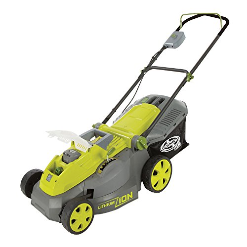 Sun Joe iON 40-Volt Cordless 16'' Lawn Mower with Brushless Motor by MegaDeal