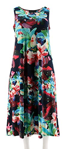 Attitudes Renee Petite Solid Printed Set 2 Dresses Navy Floral P2X New A291603 from Attitudes by Renee