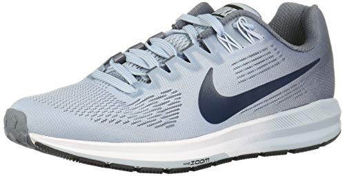 Nike Women's Air Zoom Structure 21 Armory Blue/Armory Navy Ankle-High Mesh Running Shoe - 8W