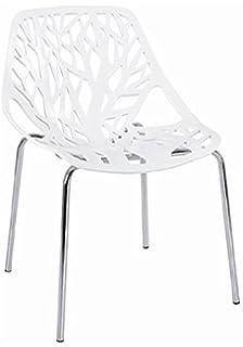 amazon com baxton studio birch sapling white plastic accent dining
