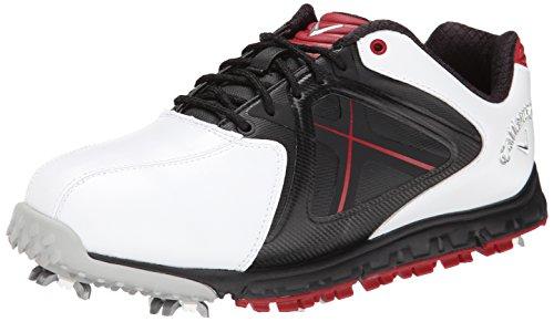 Callaway Footwear Men's Xfer Sport Golf Shoe, White/Red, 10 M US