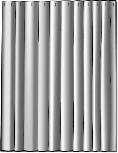 French Country Ticking Stripe Brindle Gray 75 x 72 inch Cotton Shower Curtain, Lined