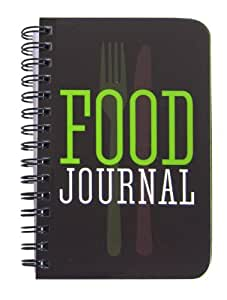 "BookFactory Food Journal / Food Diary / Diet Journal Notebook, 120 pages - 3 1/2 x 5 1/4"" (Pocket Sized), Durable Thick Translucent Cover, Wire-O Binding (JOU-120-M3CW-A (Food))"