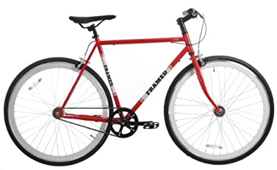 Framed Lifted Bike Fixie Style Single Speed Red/White/Black 56cm