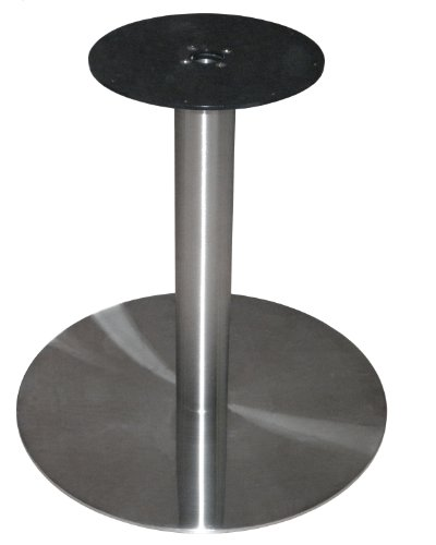 ATC Futura Round Powder-Coated Stainless Steel Low Profile Table Base, 28'' Base D x 28-1/2'' H by American Trading Company