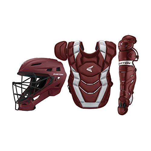 Easton Elite x Custom Catcher Box Set Elite-x Custom Catchers Set MN/Sl, Maroon/Silver, Youth