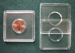 10 Marcus Plastic 2x2 Coin Holders:
