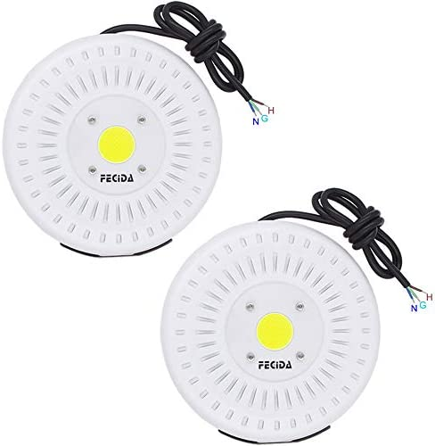 2-Pack 50W LED Flood Light Outdoor, Flood Light Fixture Waterproof IP67, 4250Lm Daylight White, 250W Halogen Flood Light Bulbs Equivalent, Brightest Security Lights for Back Yard, House Outside