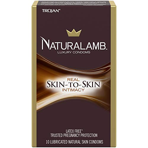 Trojan NaturaLamb Latex Free Luxury Condoms, 10ct (Condoms Naturalamb Trojan)