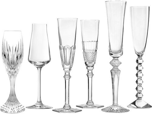 Baccarat Crystal Bubbles in a Box Champagne Flutes - Clear - Set of 6 ()