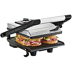 BELLA 13267 Electric Panini Maker Press and Sandwich Grill, Polished Stainless Steel