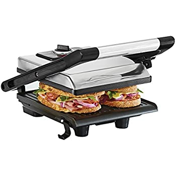 BELLA Electric Panini Maker Press and Sandwich Grill, Polished Stainless Steel