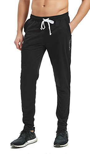 Ubestyle Men's Tapered Athletic Running Training Sweat Track Pants Performance Activewear - Pants Training Athletic