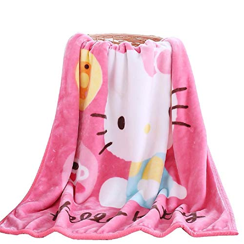 OKlife Throw Blanket Fleece Cartoon Hello Kitty Printing 56