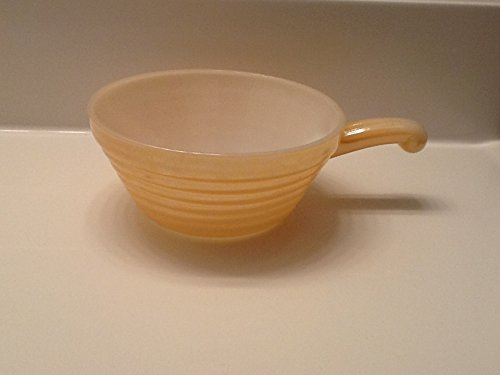 - Fire King Peach Orange Luster Soup/cereal Bowl with Handle