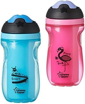 Tommee Tippee Active Drinking - Vaso de precipitados con aislamiento para niños, 12 meses +, colores sortidos, 1 unidad