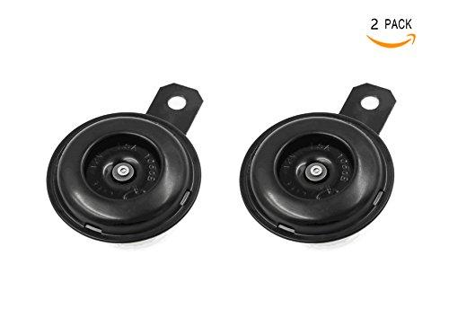 Bestsupplier 2 PACK Universal Waterproof Round Loud Horn Speaker 12V 1.5A for Motorcycle ()