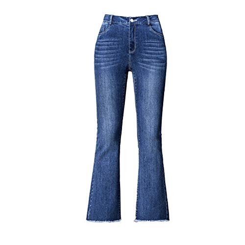 Bleu Jeans Pantalon Femme Jeans RXF Haute Taille Bleu Jeans Trompette wS8pP0Oq0x