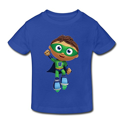 Toddler's 100% Cotton Super Why! Cool T-Shirt RoyalBlue US Size 3 Toddler