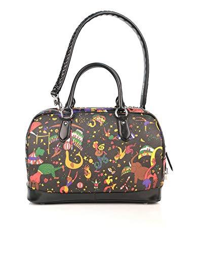 24228e728cb6 Piero Guidi Magic Circus Black Boston Bag - SIZE (cm)   W.32 H.24 D.14   Amazon.co.uk  Shoes   Bags