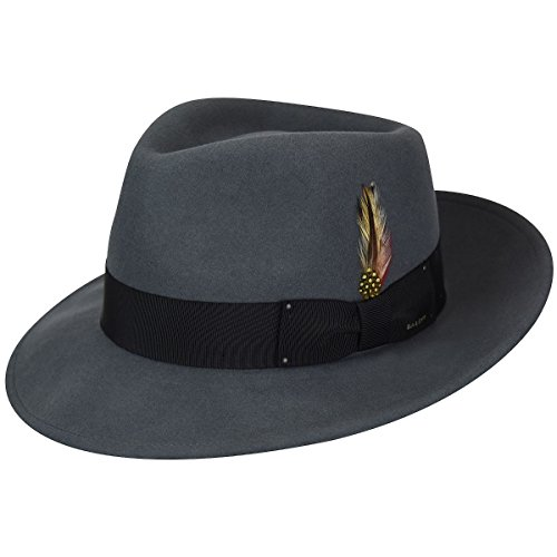 (Bailey of Hollywood Men's Fedora Hat, Graphite, M)