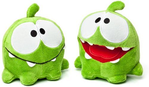 Cut the Rope Plush Toy - Set of 2 - OM NOMS (Hungry & Happy - 8 inch)