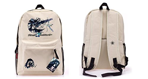 School Shooter Costume (Black Rock Shooter Anime White School Backpack 16