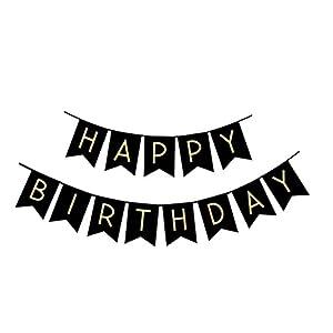 Amazon.com: Cartel de cumpleaños para papel kraft, diseño ...