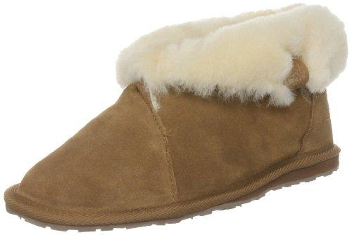 Sheepskin High Women's Shoe Chestnut Ankle Flat Emu Talinga tCIqwtH