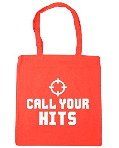 HippoWarehouse Call su Hits Tote Compras Bolsa de playa 42cm x38cm, 10litros Coral
