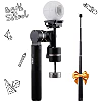 FeiyuTech G360 Panoramic Camera Gimbal with Extension Bar, Suitable for Samsung Gear 360, Sony X3000R, Kodak SP360, iPhones, Smart Phones