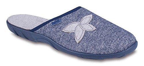 BEFADO Damen Pantoletten Hausschuhe Latschen 235D Muster-2