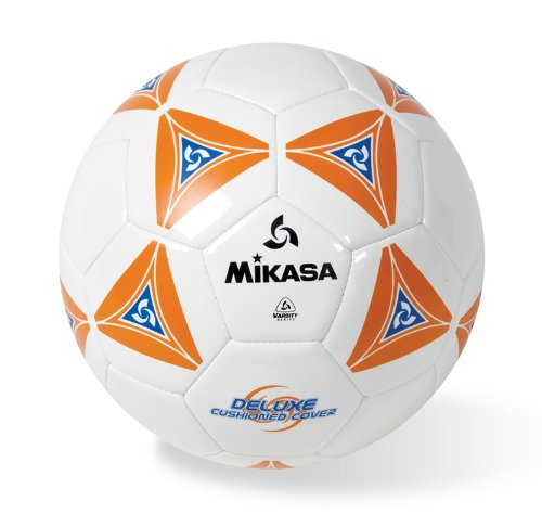 Mikasa Stitched Deluxe Cushioned Cover (Orange/White, Size 5)